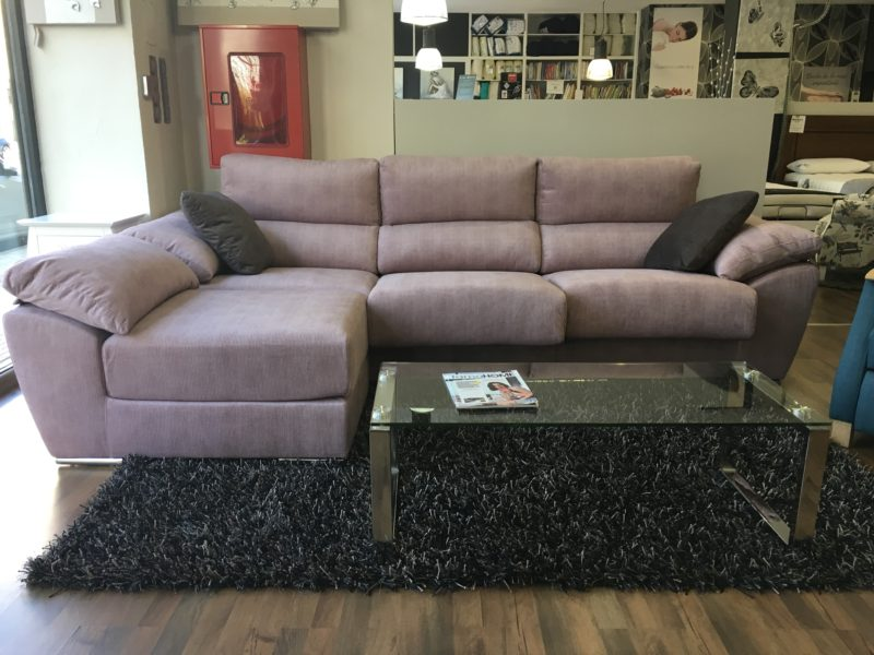 SOFA 3 PLAZAS CON CHAISELONGUE PARTIDO